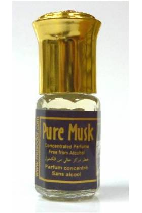 "PARFUM CONCENTRE SANS ALCOOL ""PURE MUSK"" 3 ml- MIXTE"