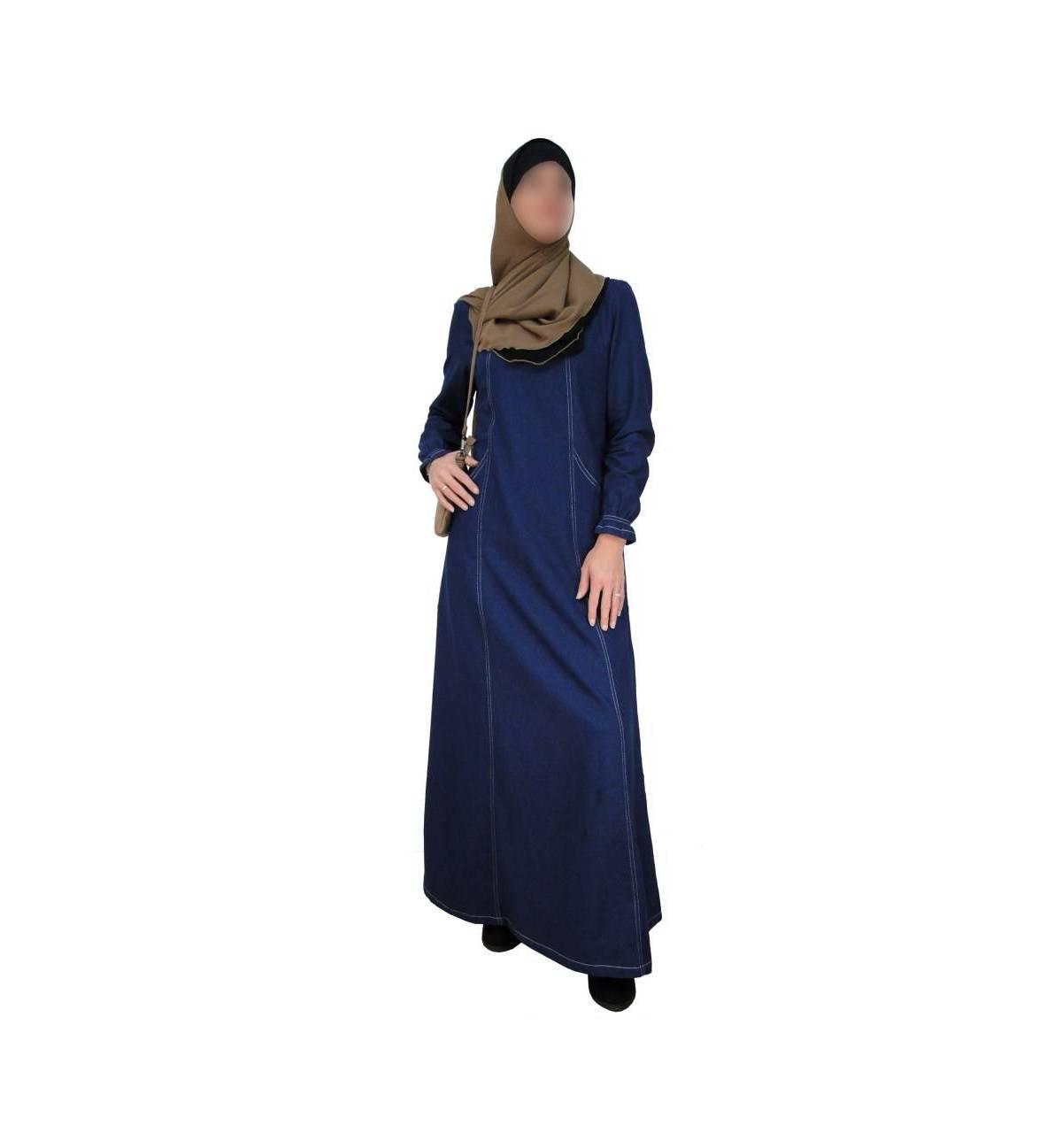 robe evasee jean 100 coton bismillah boutique. Black Bedroom Furniture Sets. Home Design Ideas