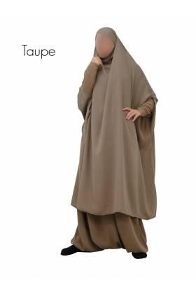 """JILBAB 2 PIECES """"manches lycra"""" (jupe ou sarouel)"""