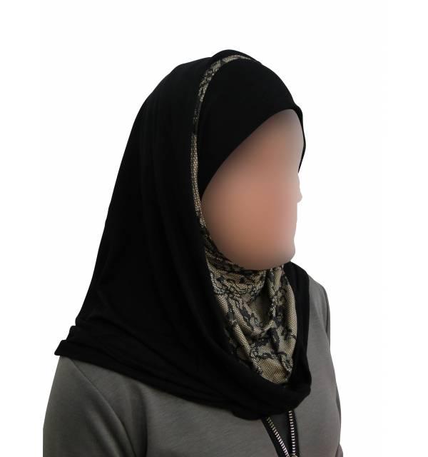 Hijab capuche imprimé