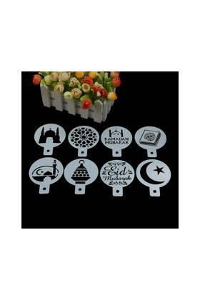 """POCHOIRS Gâteau/Biscuits """"Aid Moubarak"""" (Lot de 8 modèles différents)"""