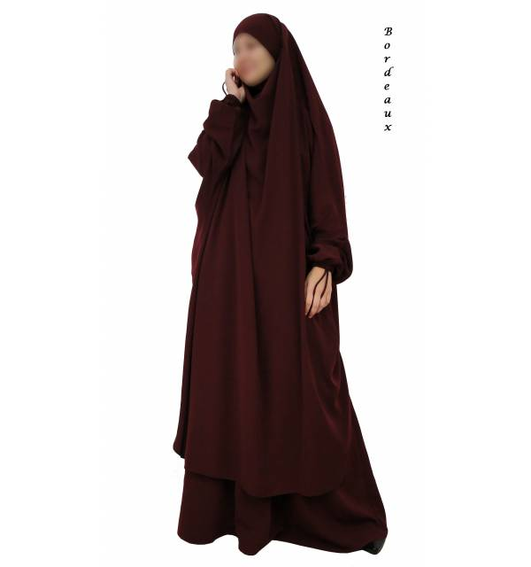 JILBAB 2 PIECES EL BASSIRA (Wool peach)