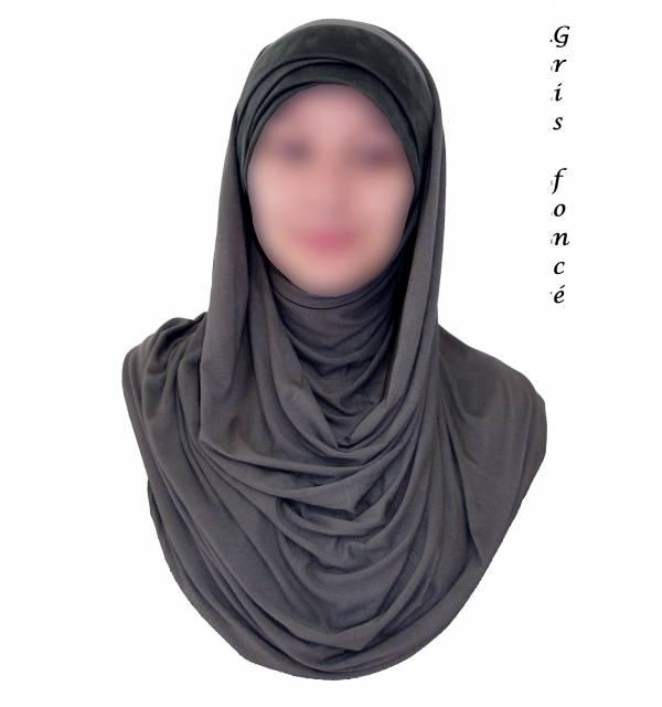 Hijab Bi-Matière Suédine
