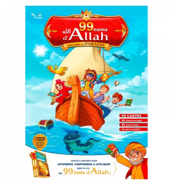 Les 99 Noms d'Allah pour aller au Paradis ( Pack méthotologique d'apprentissage)