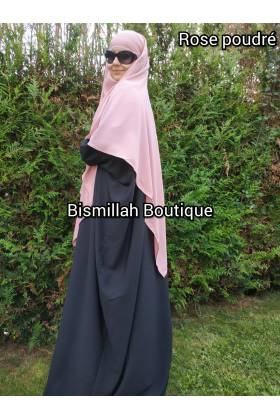 Khimar Ihsane à pointe Modèle court (Wool peach)