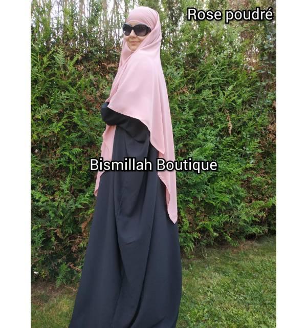 Khimar Ihsane à pointe court (Wool peach)