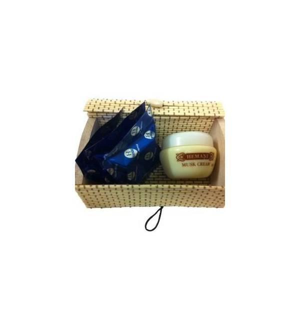 Coffret crème à l'ambre et 3 carrés de musc- HEMANI-