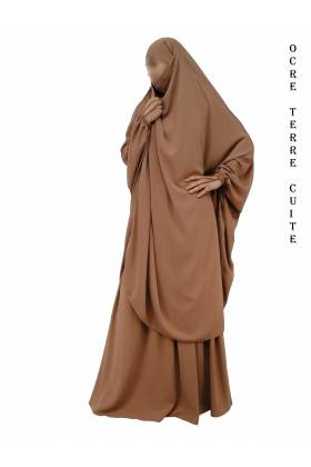 "JILBAB 2 PIECES PAPILLON ""EL BASSIRA"" (Wool peach)"