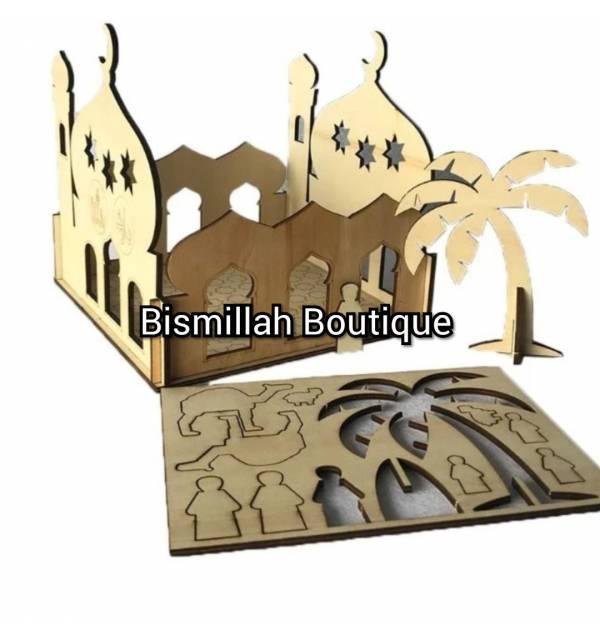 Maquette Bois Mosquée pour enfant