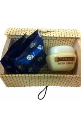 Coffret crème au musc et 3 carrés de musc Jamid- HEMANI-