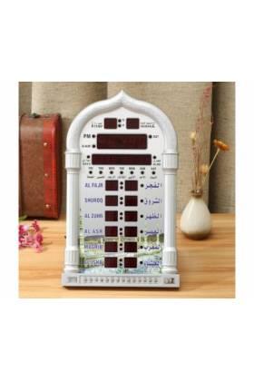 Grande Horloge Murale réveil Al-Harameen avec horaires des prières et appel à la prière (adhan)