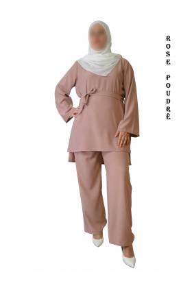 ENSEMBLE tunique pantalon (Tissu haut de gamme)