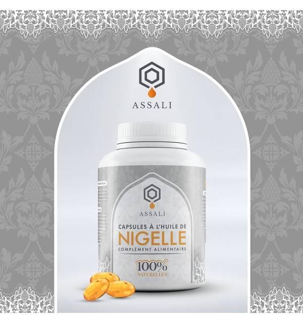 Capsules à l'huile de Nigelle -Assali- (Flacon de 60 capsules)