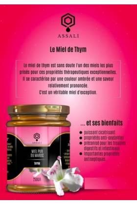 Miel de Thym du Maroc de Qualité 250gr - ASSALI