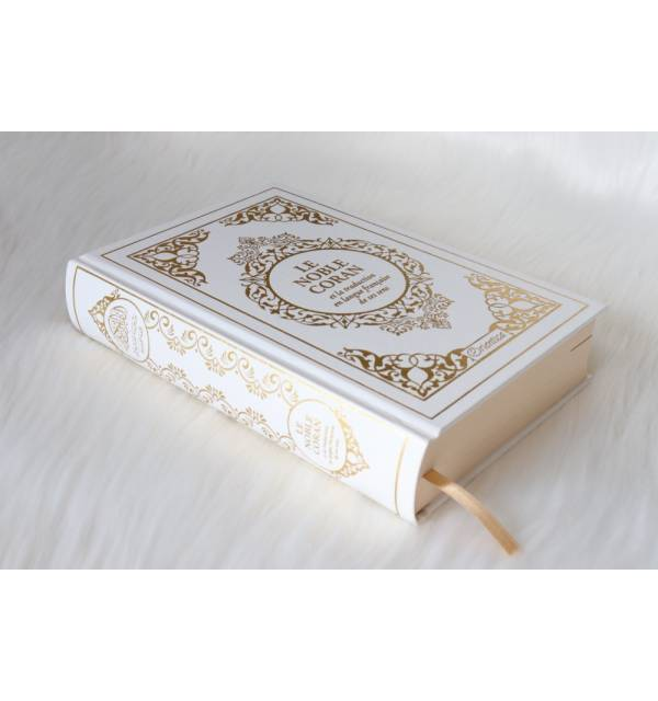 Le Saint Coran - Edition de luxe (Couverture en daim)- Arabe, transcription phonétique et traduction Française