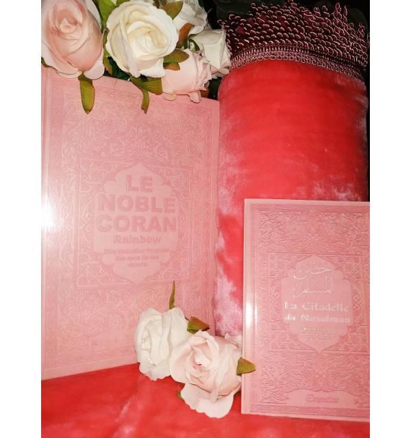 Pack Cadeau ROSE (coran, tapis,citadelle)